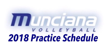 Image for 2018 Practice Schedule