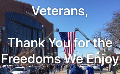 Image for Veterans Day With the Colts 2018