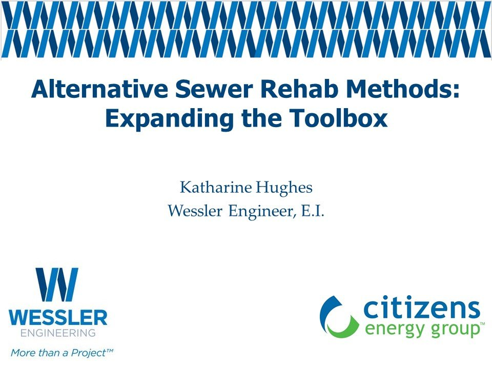 Alternate Sewer Rehab Methods: EXpanding the Toolbox