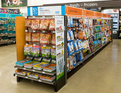 Product Display End Cap with Fins