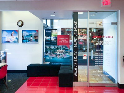 Liberty Travel Décor and Window Graphics