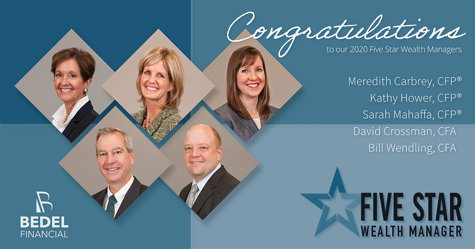 Image for 5 Bedel Financial Advisors Receive 2020 Five Star Wealth Manager Award