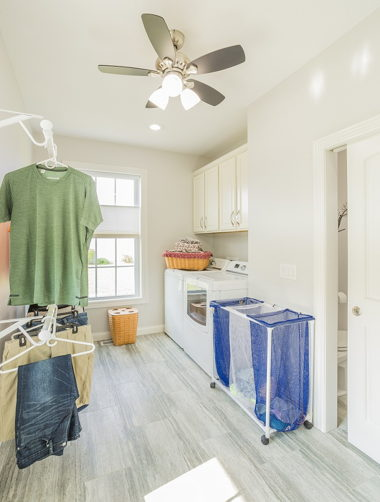 Laundry Room With Hangers