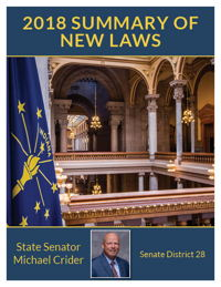 2018 Summary of New Laws - Sen. Crider