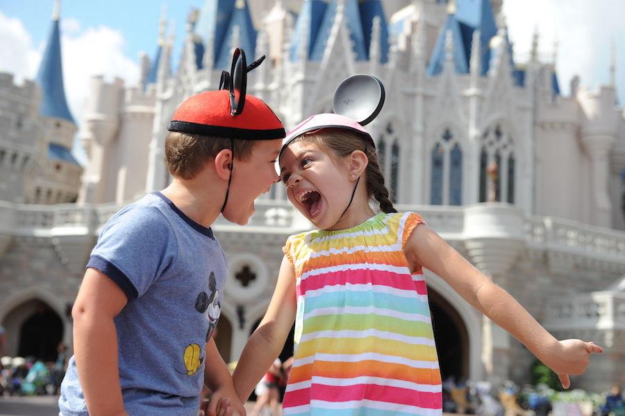 kids screaming in Magic Kingdom