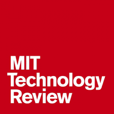 MIT Technology Review Logo white lettering on red block
