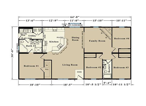 Allen Towne JR22B Floor Plan