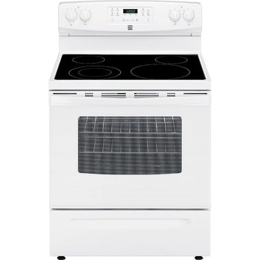 KENMORE 30″ 5.3 CU. FT. ELECTRIC RANGE- WHITE
