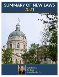 2021 Summary of New Laws - Sen. Buck