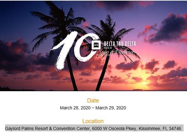 10th Anniversary of Iota Xi