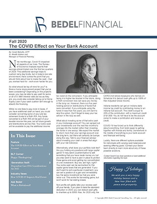 2020 Q4 Fall Newsletter Bedel Financial