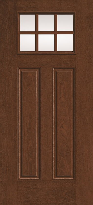 THERMA TRU SIX LIGHT WOOD GRAIN DOOR