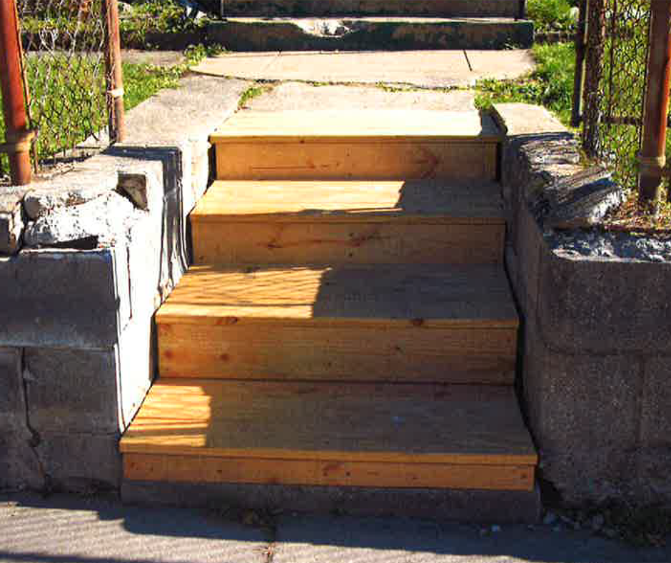 Image of new stairs