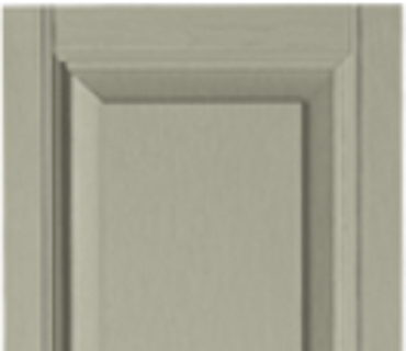 STANDARD RAISED PANEL SHUTTER - PEBBLESTONE CLAY