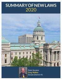 2020 Summary of New Laws - Sen. Walker