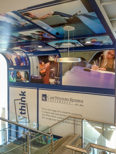 Case Western Large Format Stairwell Graphics