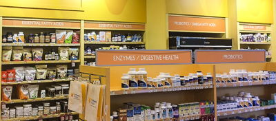 In-Line Health Store Aisle Directory