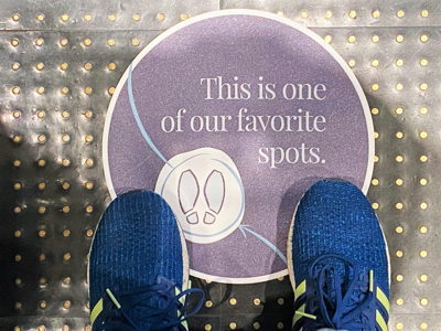 Social Distancing Floor Marker Decal