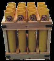 "Image of 1.75"" 12 Tube Wooden Rack"