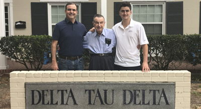 Delt Ties Span 117 Years for Fifth-Generation Initiate