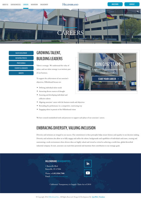 Hillenbrand Project - Careers