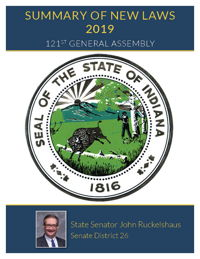 2019 Summary of New Laws - Sen. Ruckelshaus
