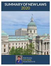 2020 Summary of New Laws - Sen. Leising