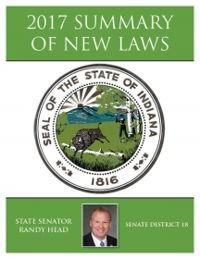 2017 Summary of New Laws - Sen. Head