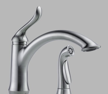 Single Handle Kitchen Faucet with Spray – Brushed Nickel