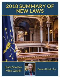 2018 Summary of New Laws - Sen. Gaskill