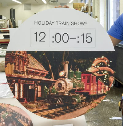 Holiday Train Show Magnetic Time Board