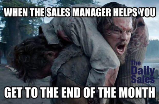 sales manager meme Leonard DiCaprio
