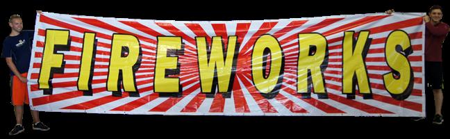 Image for Banner Fireworks 5x20 Vinyl