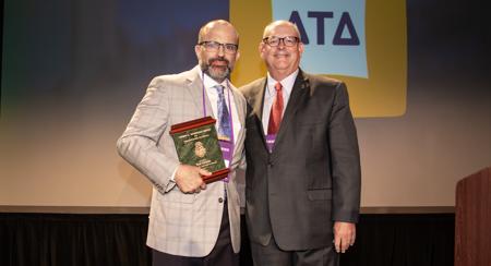 Ned Kirklin presented Delta Tau Delta's Heminger Award for Interfraternal Service