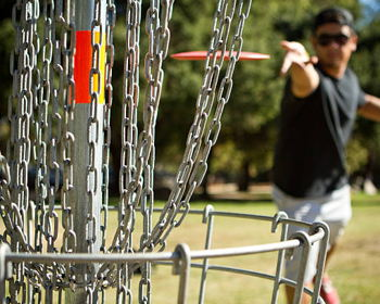 The perfect time (and place) for disc golf